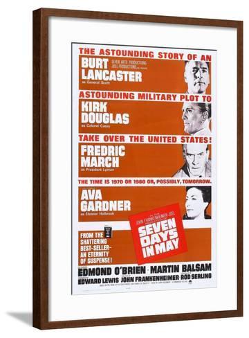 Seven Days in May, from Top: Burt Lancaster, Kirk Douglas, Fredric March, Ava Gardner, 1964--Framed Art Print