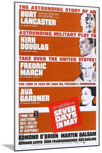 Seven Days in May, from Top: Burt Lancaster, Kirk Douglas, Fredric March, Ava Gardner, 1964--Mounted Art Print