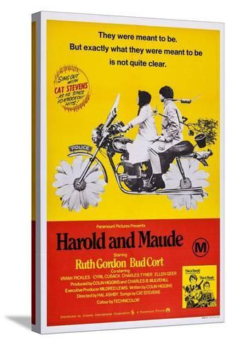 Harold and Maude, Ruth Gordon, Bud Cort, 1971--Stretched Canvas Print
