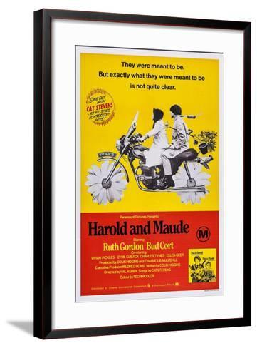 Harold and Maude, Ruth Gordon, Bud Cort, 1971--Framed Art Print