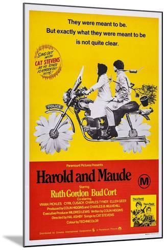 Harold and Maude, Ruth Gordon, Bud Cort, 1971--Mounted Art Print