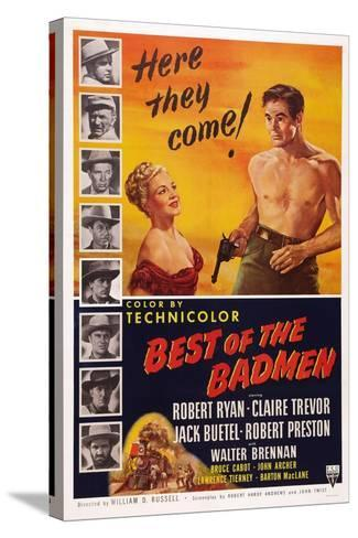 Best of the Badmen, from Left: Claire Trevor, Robert Ryan, 1951--Stretched Canvas Print