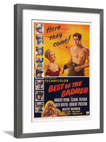 Best of the Badmen, from Left: Claire Trevor, Robert Ryan, 1951--Framed Art Print