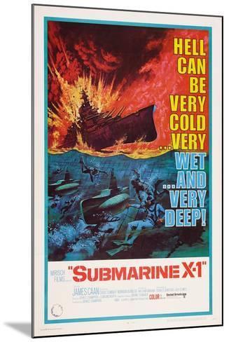 Submarine X-1, 1968--Mounted Art Print
