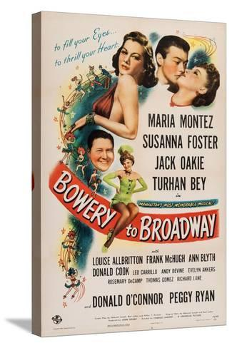 Bowery to Broadway, 1944--Stretched Canvas Print