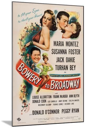 Bowery to Broadway, 1944--Mounted Art Print
