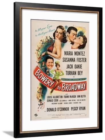 Bowery to Broadway, 1944--Framed Art Print