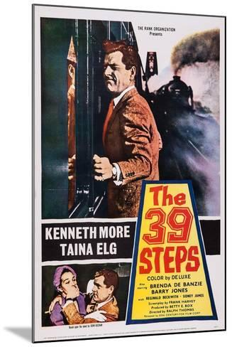 The 39 Steps, Kenneth More (Top), Bottom from Left: Taina Elg, Kenneth More, 1959--Mounted Art Print