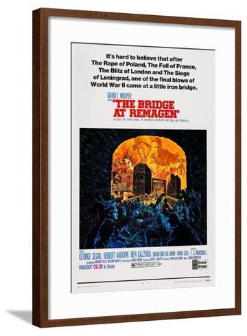 The Bridge at Remagen, Top from Left: George Segal, Ben Gazzara, 1969--Framed Art Print