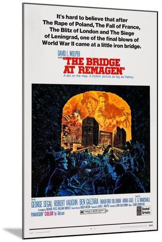 The Bridge at Remagen, Top from Left: George Segal, Ben Gazzara, 1969--Mounted Art Print