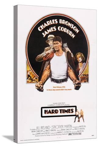 Hard Times, Top from Left: James Coburn, Charles Bronson, Jill Ireland, 1975--Stretched Canvas Print