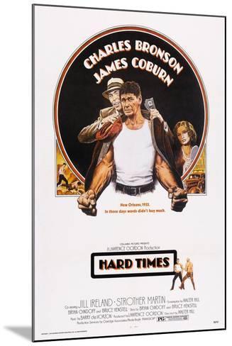 Hard Times, Top from Left: James Coburn, Charles Bronson, Jill Ireland, 1975--Mounted Art Print