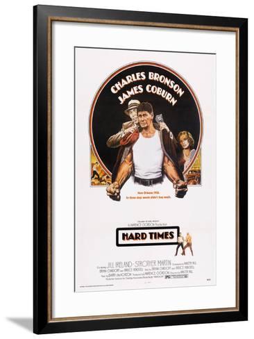 Hard Times, Top from Left: James Coburn, Charles Bronson, Jill Ireland, 1975--Framed Art Print
