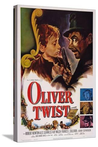 Oliver Twist, John Howard Davies, Robert Newton, 1948--Stretched Canvas Print