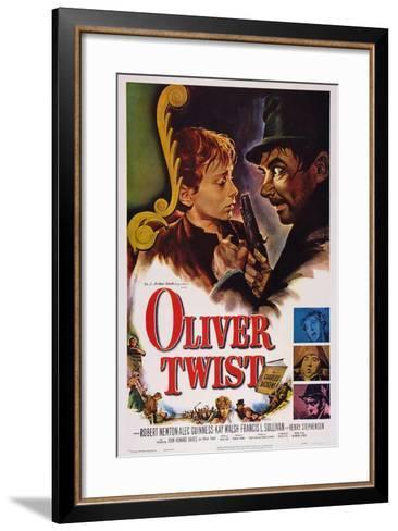 Oliver Twist, John Howard Davies, Robert Newton, 1948--Framed Art Print