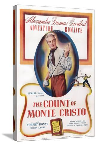 The Count of Monte Cristo, Robert Donat, 1934--Stretched Canvas Print