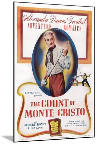 The Count of Monte Cristo, Robert Donat, 1934--Mounted Art Print