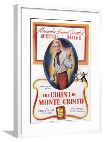 The Count of Monte Cristo, Robert Donat, 1934--Framed Art Print