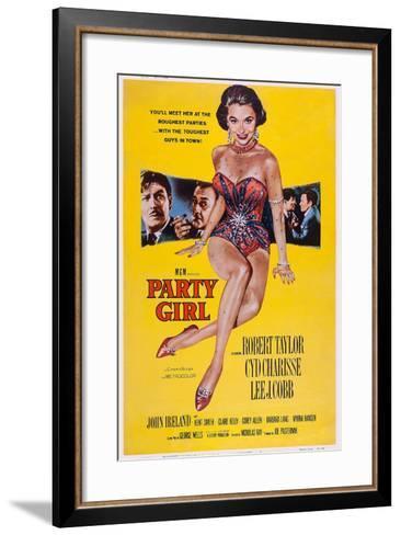 Party Girl, from Left: Robert Taylor, Lee J. Cobb, Cyd Charisse, Robert Taylor, John Ireland, 1958--Framed Art Print