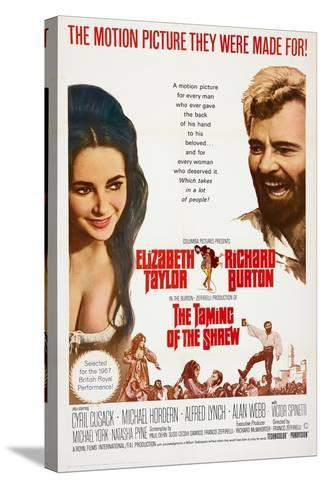 The Taming of the Shrew, from Left: Elizabeth Taylor, Richard Burton, 1967--Stretched Canvas Print