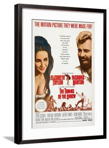The Taming of the Shrew, from Left: Elizabeth Taylor, Richard Burton, 1967--Framed Art Print