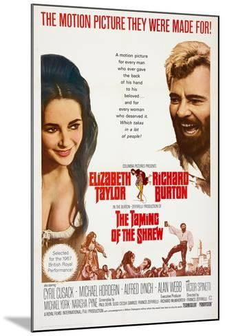 The Taming of the Shrew, from Left: Elizabeth Taylor, Richard Burton, 1967--Mounted Art Print