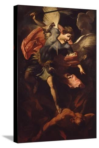 Archangel Michael Defeating Lucifer-Panfilo Nuvolone-Stretched Canvas Print