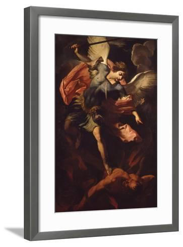 Archangel Michael Defeating Lucifer-Panfilo Nuvolone-Framed Art Print