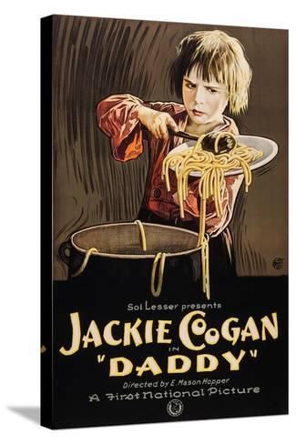Daddy, Jackie Coogan, 1923--Stretched Canvas Print