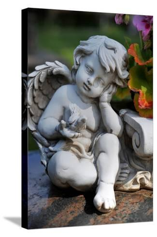 Sculpture of an Angel-Frank May-Stretched Canvas Print