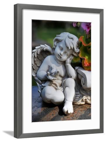 Sculpture of an Angel-Frank May-Framed Art Print