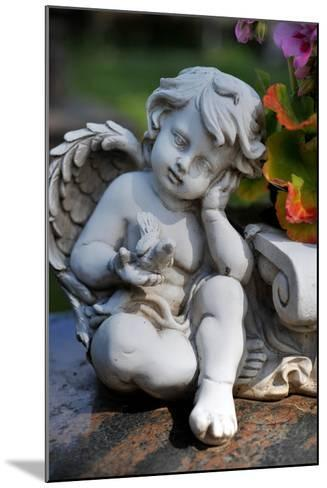 Sculpture of an Angel-Frank May-Mounted Photo