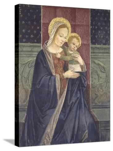 Enthroned Madonna with Child, 15th C--Stretched Canvas Print
