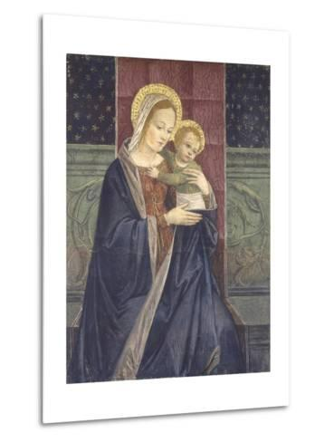 Enthroned Madonna with Child, 15th C--Metal Print