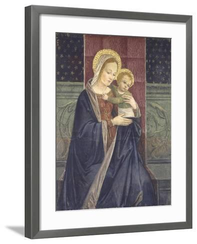 Enthroned Madonna with Child, 15th C--Framed Art Print