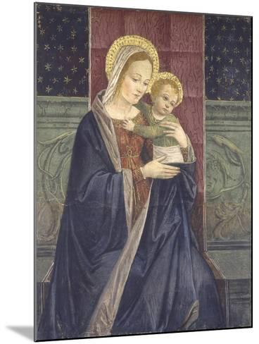 Enthroned Madonna with Child, 15th C--Mounted Art Print