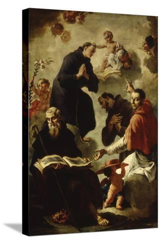 Baby Jesus Blessing Four Saints-Francesco Capella-Stretched Canvas Print