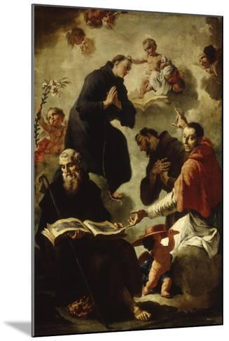 Baby Jesus Blessing Four Saints-Francesco Capella-Mounted Art Print
