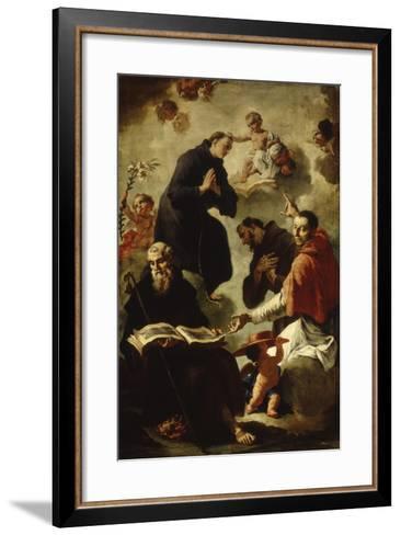 Baby Jesus Blessing Four Saints-Francesco Capella-Framed Art Print