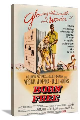 Born Free, Virginia Mckenna, Elsa the Lion, Bill Travers, 1966--Stretched Canvas Print