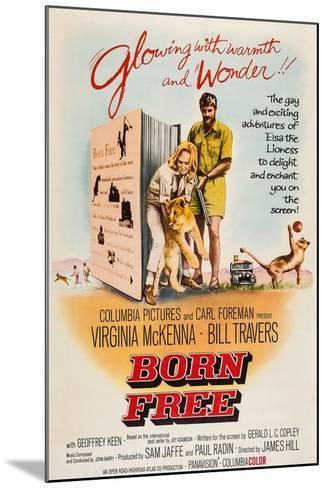 Born Free, Virginia Mckenna, Elsa the Lion, Bill Travers, 1966--Mounted Art Print