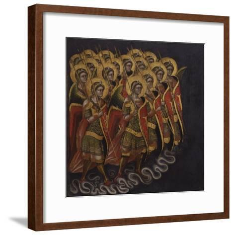 Procession of Armed Angels-Guariento Di Arpo-Framed Art Print