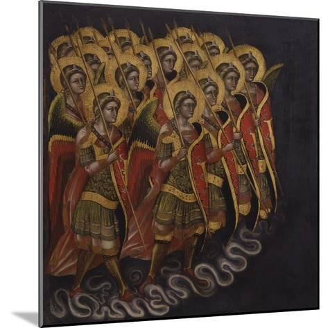 Procession of Armed Angels-Guariento Di Arpo-Mounted Art Print