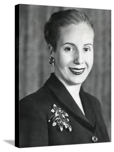 Eva Duarte De Peron, Wife of Argentine President Juan Domingo Peron--Stretched Canvas Print