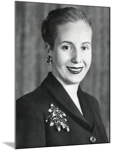 Eva Duarte De Peron, Wife of Argentine President Juan Domingo Peron--Mounted Photo