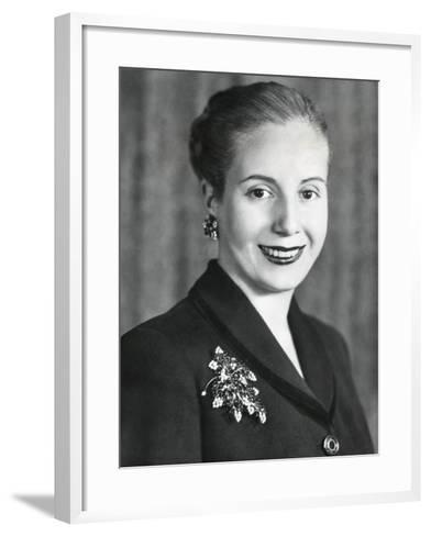 Eva Duarte De Peron, Wife of Argentine President Juan Domingo Peron--Framed Art Print