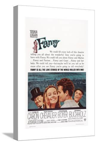Fanny, from Left: Maurice Chevalier, Leslie Caron, Horst Buchholz, Charles Boyer, 1961--Stretched Canvas Print