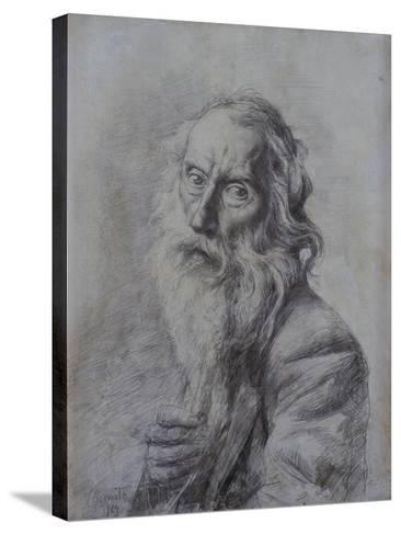 Self-Portrait Drawing-Vincenzo Gemito-Stretched Canvas Print