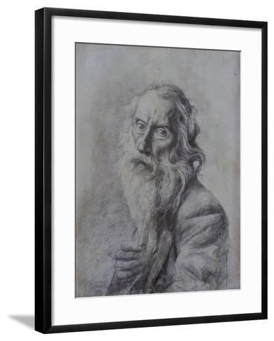 Self-Portrait Drawing-Vincenzo Gemito-Framed Art Print