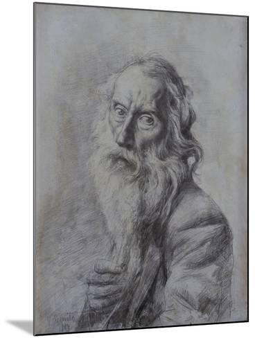 Self-Portrait Drawing-Vincenzo Gemito-Mounted Art Print